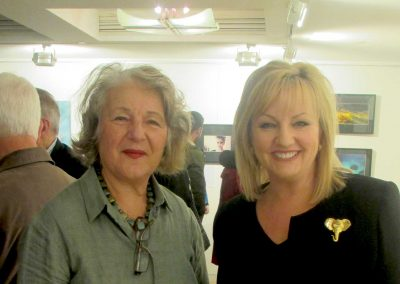 Antipodean Palette 2013, President Ms Cathy Alexopoulos with Minister for the Arts Ms Heidi Victoria