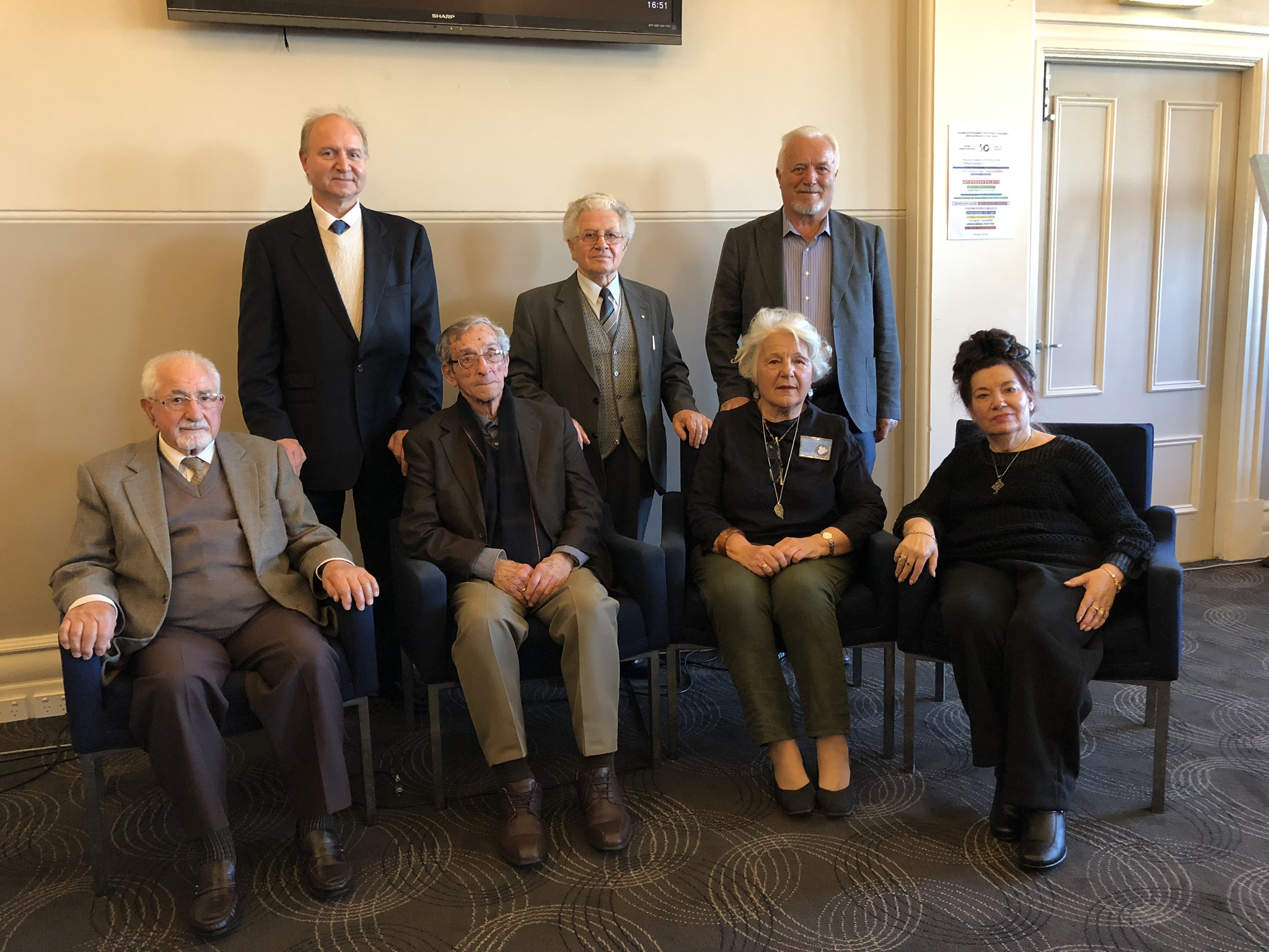 Founding members, past Presidents with current President 5