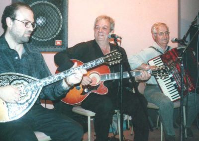 The musical trio who entertained us for years in our dinner dances