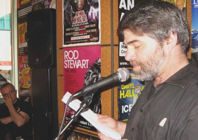 Dimitris Troaditis, Poetry Reading at Federation Square (Sept 2011)