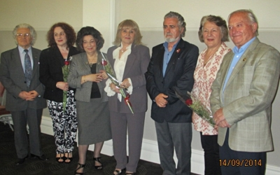 The launching of Dina Amanatides poetry collections